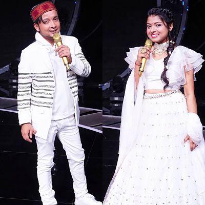 Pawan Deep and arunita stage performance